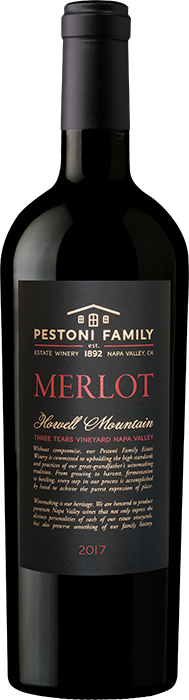 Product Image for 2017 Howell Mountain Estate Merlot